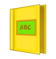 Abc book icon cartoon style vector