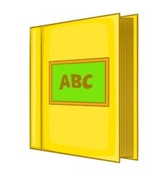 Abc book icon cartoon style vector