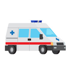 ambulance car flat isolated icon vector image