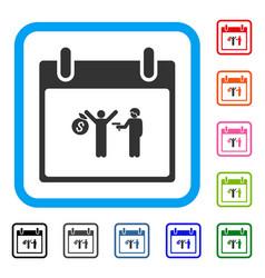 arrest calendar day framed icon vector image