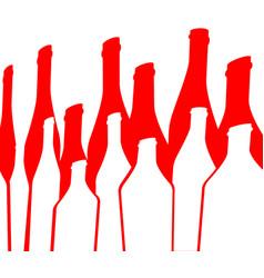 Background bottle red vector