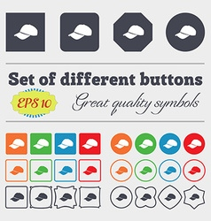 Baseball cap icon sign Big set of colorful diverse vector image