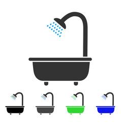 Bath shower flat icon vector