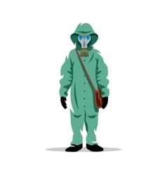 Bio hazard protection Cartoon vector image