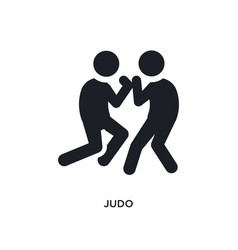 Black judo isolated icon simple element from vector