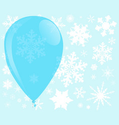 Blue christmas balloon vector