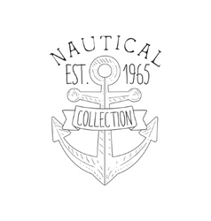 Boat Anchor Vintage Sea And Nautical Symbol Hand vector image
