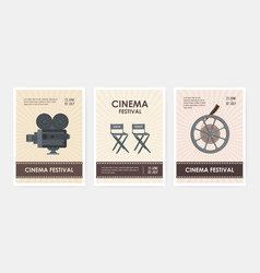 bundle of vertical flyer or poster templates with vector image