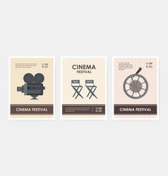 bundle vertical flyer or poster templates vector image