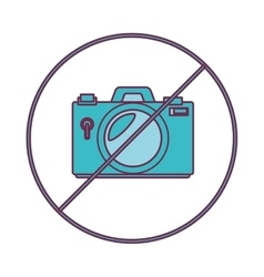 Camera photographic denied isolated icon vector