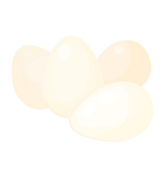chicken eggs raw or boiled source proteine vector image
