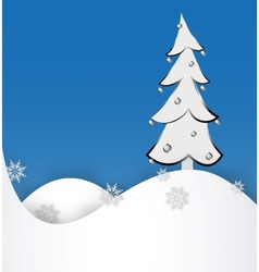 Christmas tree on a paper background vector image