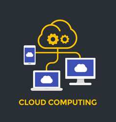 cloud computing technologies vector image