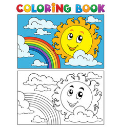 coloring book summer image 1 vector image