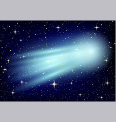 comet and stars vector image