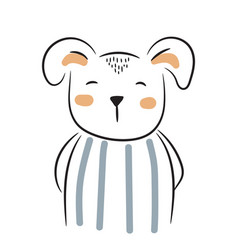 cute doodle puppy simple hand drawn vector image