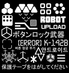 Cyberpunk style elements vector
