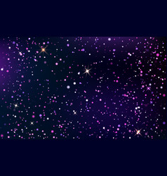 dark blue and violet starry sky vector image