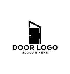 Door logo design vector