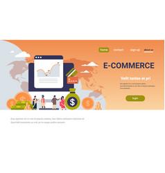 E-commerce financial money graph growth wealth vector
