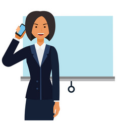 Entrepreneur woman businesswoman cartoon flat vector