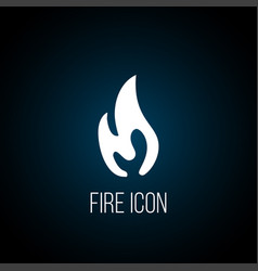 fire flame logo icon vector image