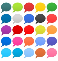 Flat speech bubble sign web icon circle shape vector image
