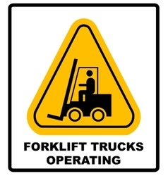 Forklift truck sign Symbol of threat alert vector