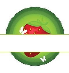 fresh strawberry label vector image