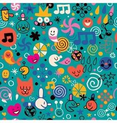Fun cartoon pattern 4 vector