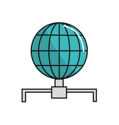 Global internet digital service connect vector