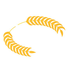 Gold laurel icon isometric style vector