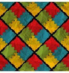 Grunge rhombus seamless pattern vector image