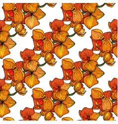 hand drawn flowering pattern for fashion fabric vector image