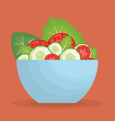 healthy vegetables design vector image