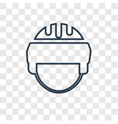 helmet concept linear icon isolated on vector image
