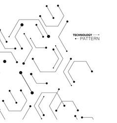 Hexagons genetic science connection vector