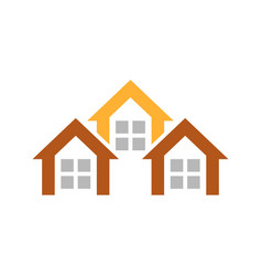 home sign and symbol logo vector image