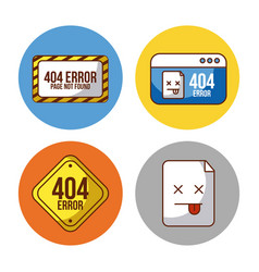 Icon set page not found vector