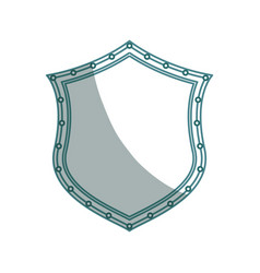 Isolated security shield vector