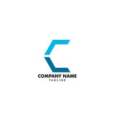 letter c arrow logo design template vector image