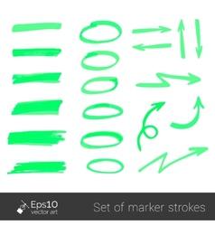 Marker strokes vector image