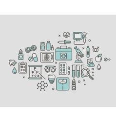 medicine service concept thin line vector image