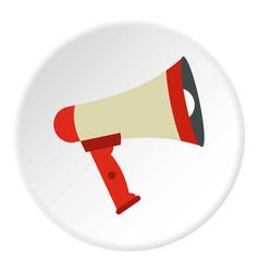 megaphone icon circle vector image