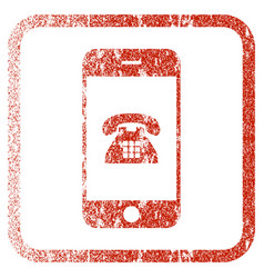Mobile phone framed textured icon vector