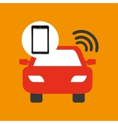 Mobile phone navigation car location vector