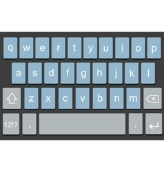 modern keyboard of smartphone vector image