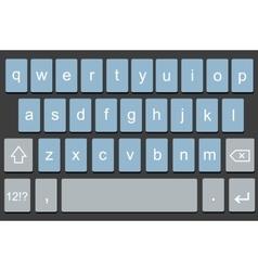 modern keyboard smartphone vector image