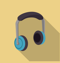 Music headphone device vector