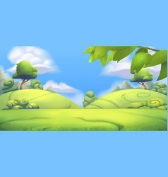 Nature landscape park 3d background vector